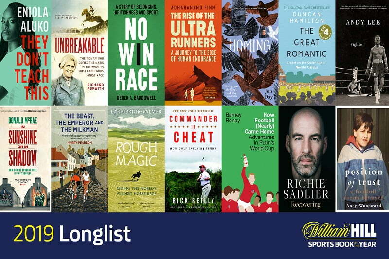 William Hill Release Long List For 31st Sports Book Of The Year Award