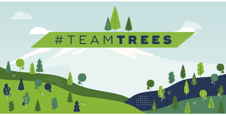 Bitcasino.io Hands #TeamTrees $100,000 Pledge