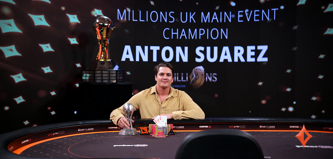 Anton Suarez Crowned Champ Of The MILLIONS UK Main Event