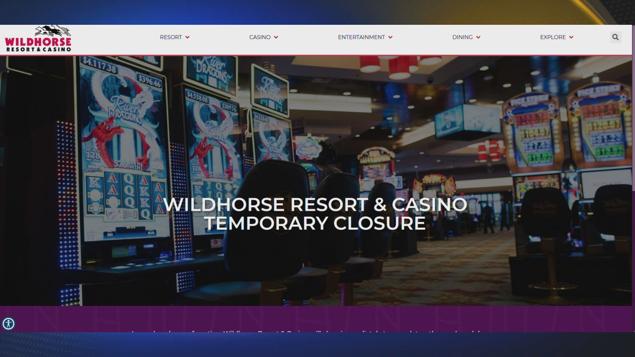 Coronavirus Case Shuts Down Wildhorse Casino Oregon