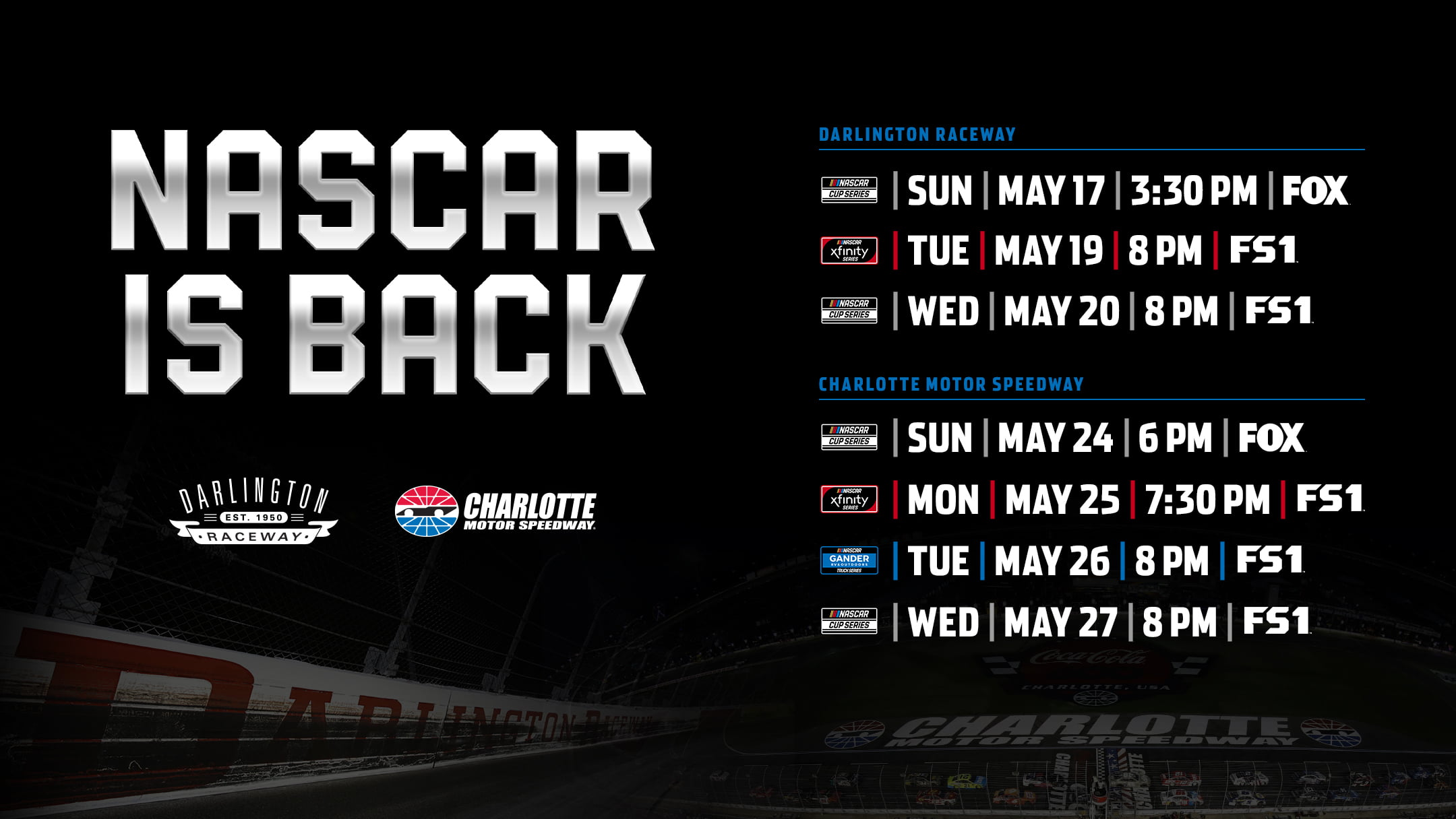 NASCAR To Return To Racing This Month