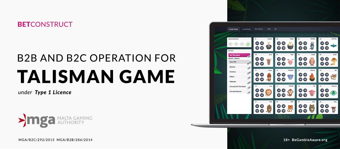BetConstruct's RNG Talisman Game Gets MGA Licence