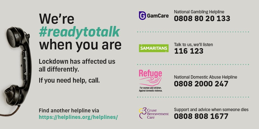 #Readytotalk Campaign Backed By GamCare And Others