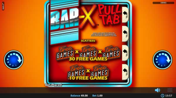 Realistic Games Adds Bar-X™ Pull Tab Via ELECTROCOIN
