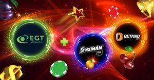 EGT Interactive Signs Stoixman/Betano Content Agreement