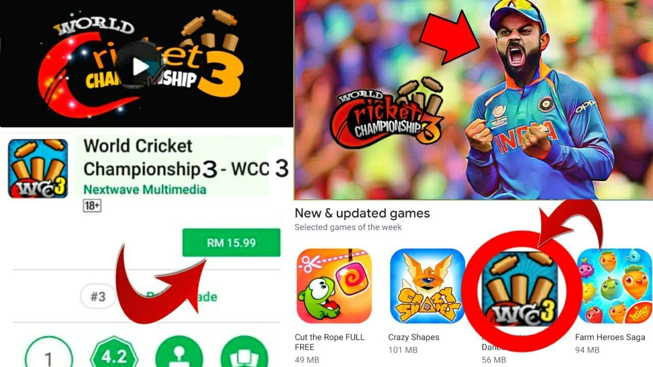 WCC3 Release Career Mode In Mobile Cricket Game