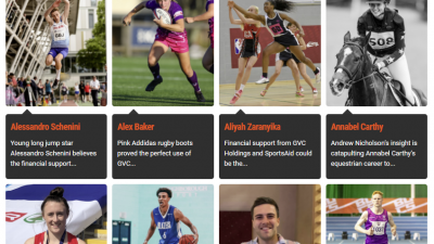 GVC Announce Athletes It Supports Through SportsAid