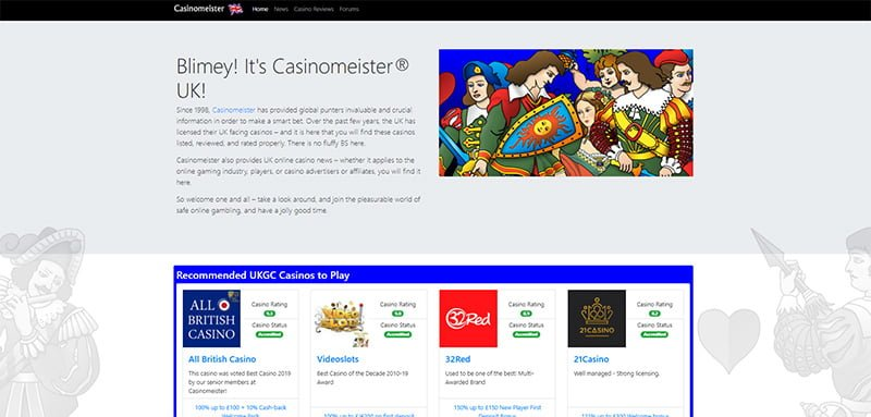 Casinomeister Announce Launch UK Website