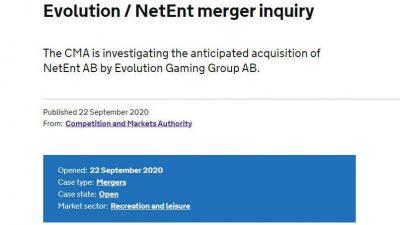 CMA Investigates Evolution's NetEnt Acquisition