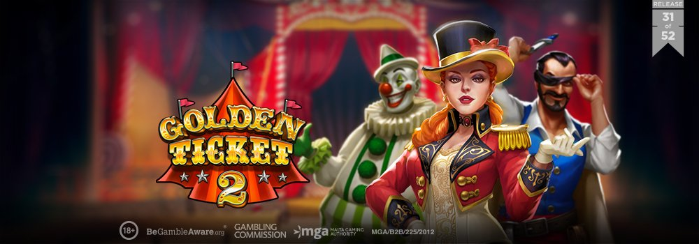 Play'n GO Continue Expansion With Latest Offering Golden Ticket 2