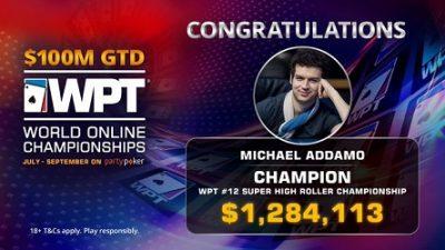 Michael Addamo Wins $1.2m WPT High Roller