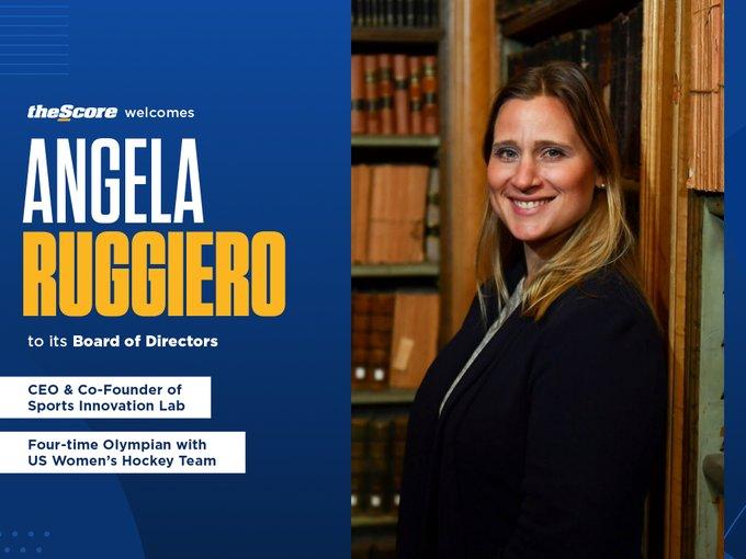 Angela Ruggiero Joins Score Media Board of Directors
