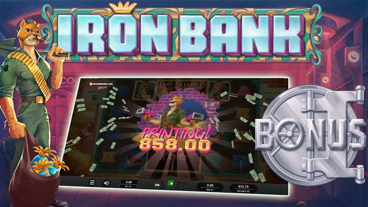 Relax Gaming Delivers Iron Bank With CasinoGrounds