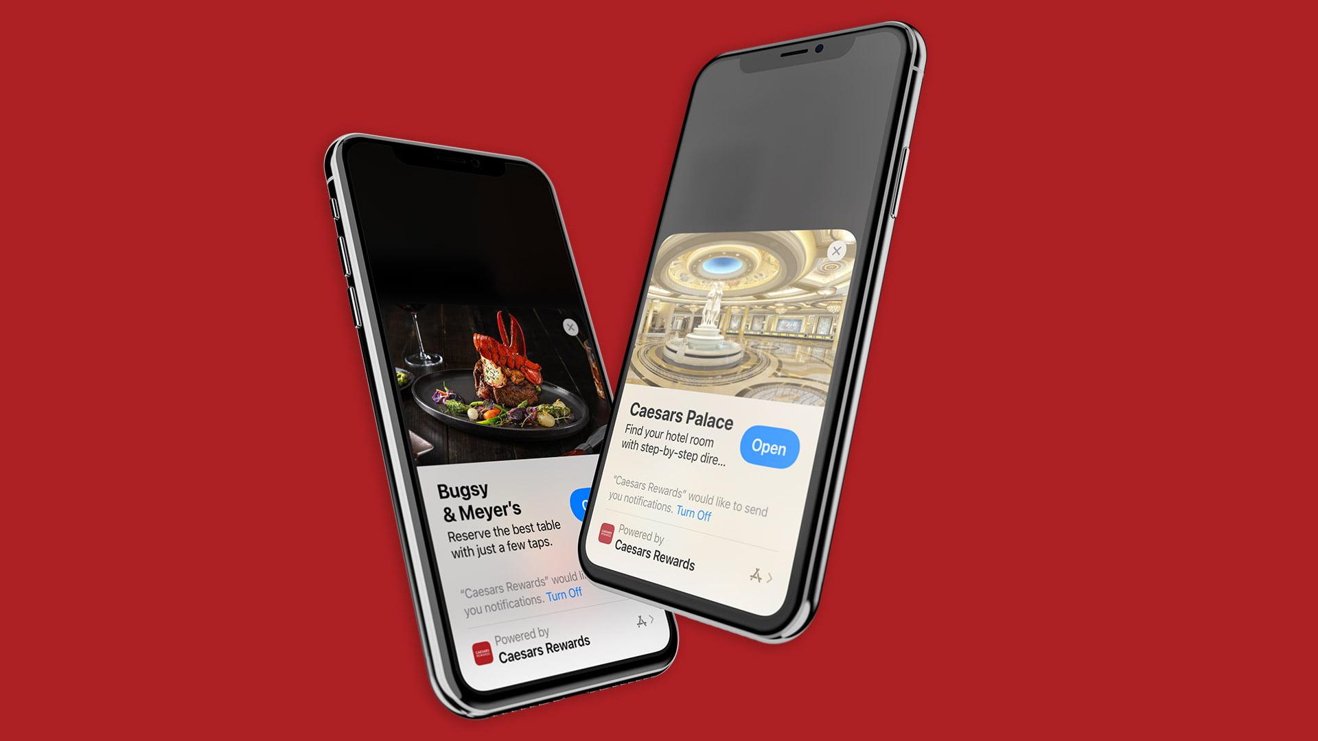 Bottle Rocket Launch Apple App Clip For Caesars Ent