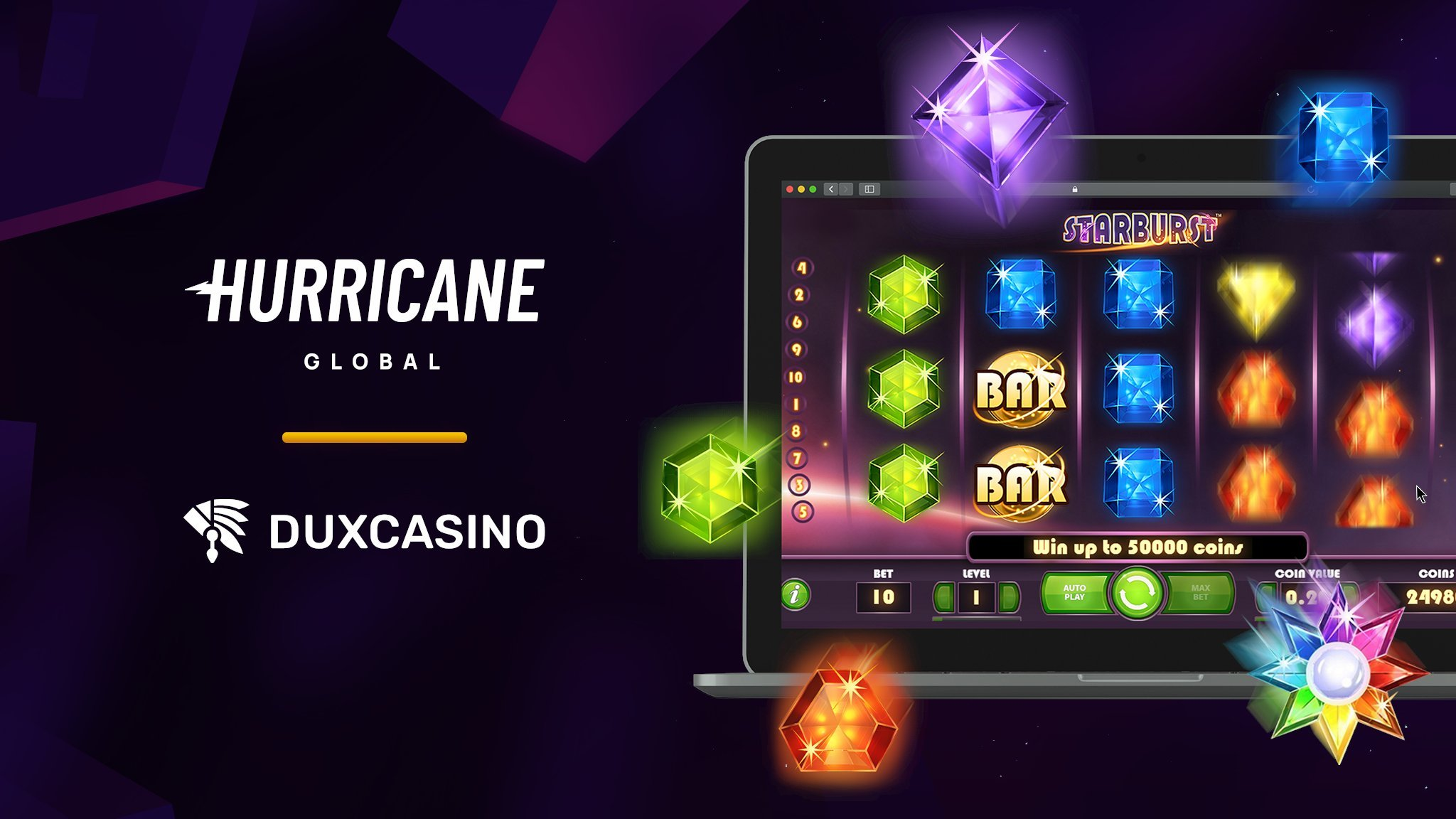 Hurricane Global Acquires DuxCasino For Unique Gaming Experience