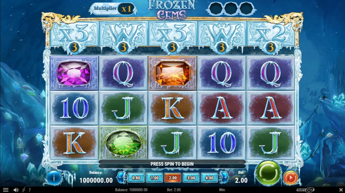Play'n GO Reveal Frozen Gems Video Slot