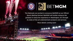 Washington Nationals Reveal BetMGM Partnership