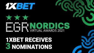 1XBet Nominated In 3 Categories In EGR Nordics Virtual Awards