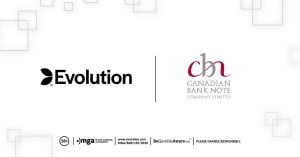 Evolution Announce Canadian Bank Note Company & AGLC Alliance