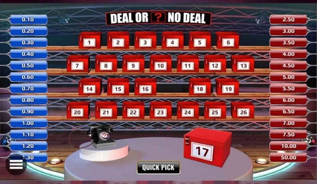 deal or no deal game playe