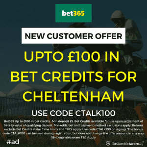 Oddschecker Report Reveals bet365 Topped Cheltenham Betslip Leaderboard