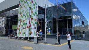 BCLC Shows Dedication To Pride Raising Progress Flag