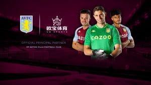 Aston Villa Names OB Sports As EPL Sleeve Sponsor