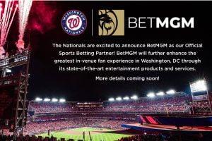 BetMGM Takes App To Washington Following Washington Nationals Deal