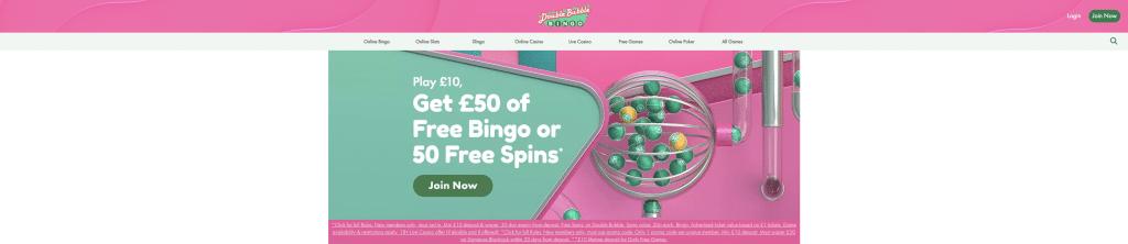 Double Bubble Bingo promotions